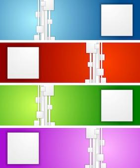 Jasne geometryczne abstrakcyjne banery. projekt wektorowy