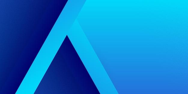 Jasne i ciemnoniebieskie błyszczące paski o wysokim kontraście. projekt graficzny banera streszczenie tech.