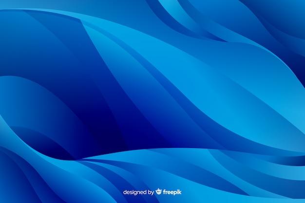 Jasne i ciemnoniebieskie zakrzywione linie