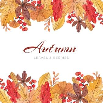 Jasne i kolorowe granicy jesienią