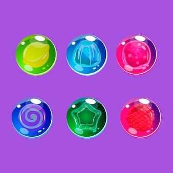 Jasne kolorowe błyszczące cukierki z błyszczy
