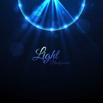 Jasne niebieskie tło światła