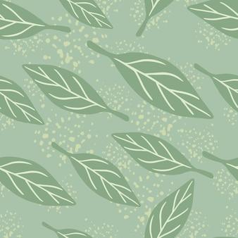 Jasne odcienie bezszwowego wzoru z losowymi prostymi kształtami liści