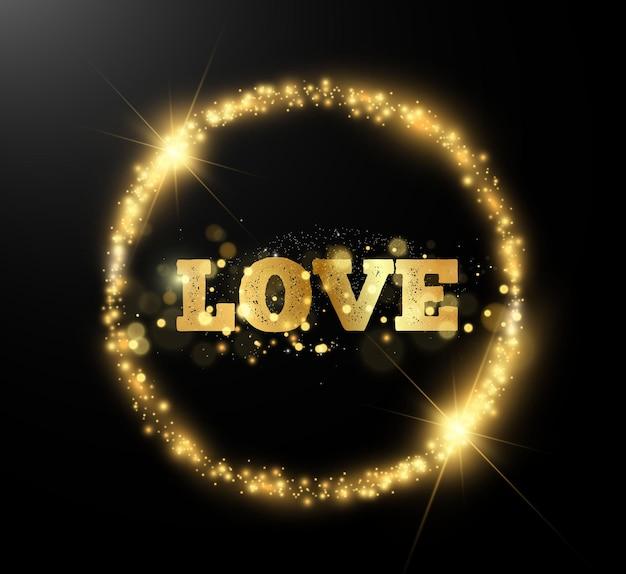 Jasne, piękne słowo miłość.