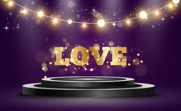 Jasne, Piękne Słowo Miłość. Premium Wektorów