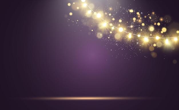 Jasne, piękne światła elementy projektu świecące światła