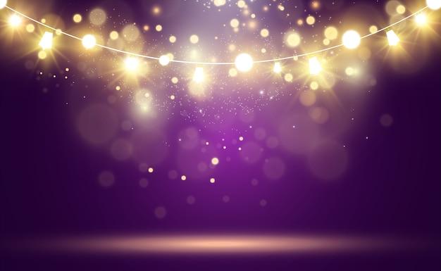 Jasne, piękne światła, elementy wystroju. girlandy jasne.