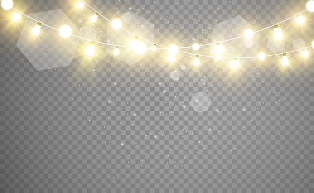 Jasne, piękne światła, elementy wystroju. świecące światła