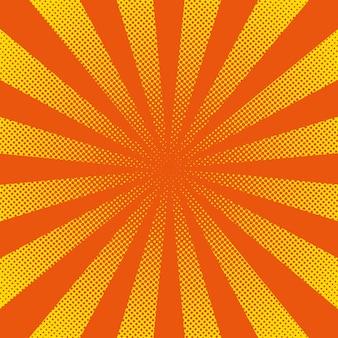 Jasne promienie słoneczne z żółtymi kropkami