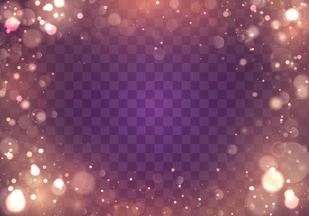 Jasne streszczenie świecące światła bokeh. efekt światła bokeh na białym tle.