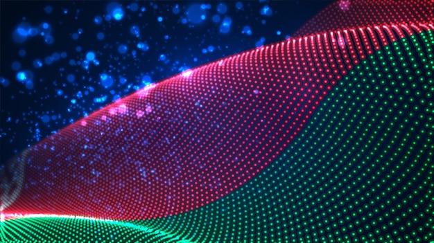 Jasne świecące flaga kraju abstrakcyjnych kropek. białoruś