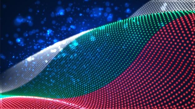 Jasne świecące flaga kraju abstrakcyjnych kropek. bułgaria