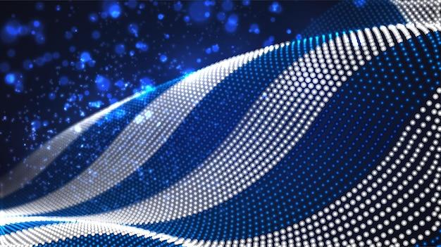 Jasne świecące flaga kraju abstrakcyjnych kropek. grecja