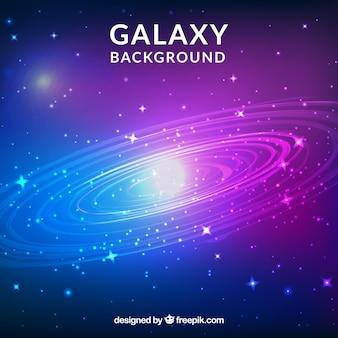Jasne tło galaktyki z gwiazdami
