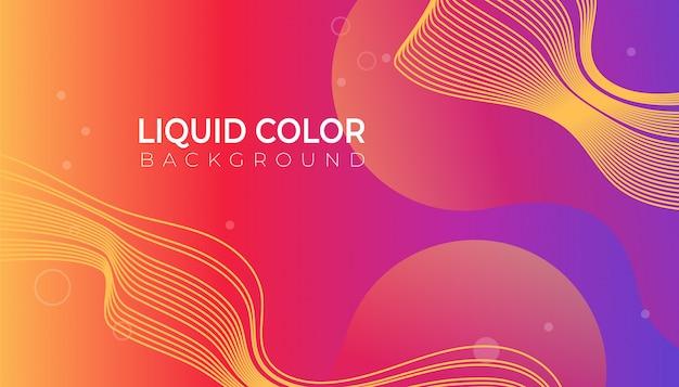 Jasne tło gradientowe kolory z płynnych fal gradientu