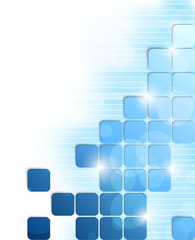 Jasne tło niebieskie kwadraty i paski. ilustracja