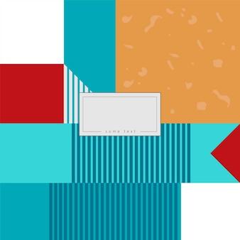 Jasne tło wzór. wektor ilustracja jasny design. abstrakcyjna rama geometryczna. stylowa ozdobna etykieta. kolorowy ornament geometryczny.