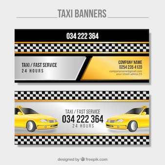 Jasne transparenty taksówki