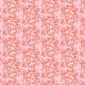 Jasnoczerwona chustka paisley wzór