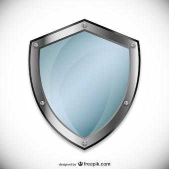 Jasnoniebieski bezpieczeństwa logo