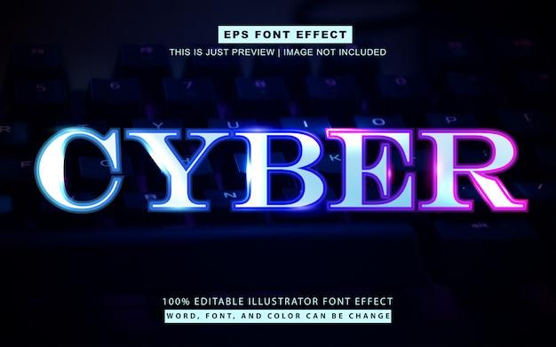 Jasnoniebieski cyber styl koncepcja efekt tekstu styl