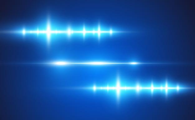 Jasnoniebieski efekt specjalny. świecące jasne paski