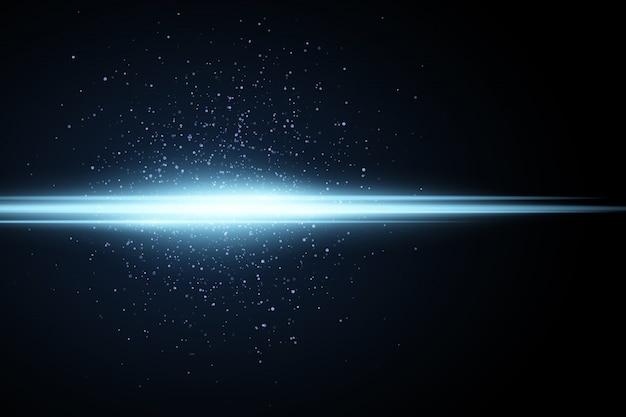 Jasnoniebieski efekt. świecący pył ilustracja