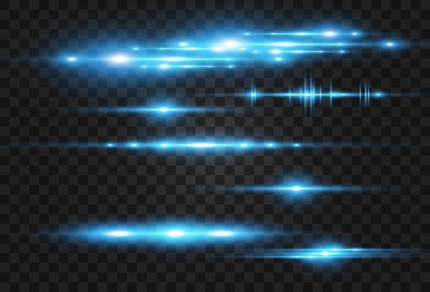 Jasnoniebieski efekt wektorowy świecące piękne jasne linie na ciemnym tle