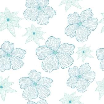Jasnoniebieski kwiatki bez szwu.