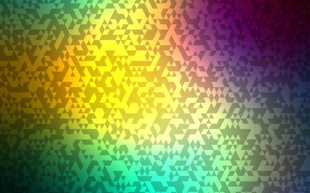 Jasnoniebieski, zielony wektor szablon z kryształów, trójkąty.