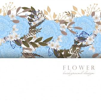 Jasnoniebieskie kwiaty w kwieciste obramowanie