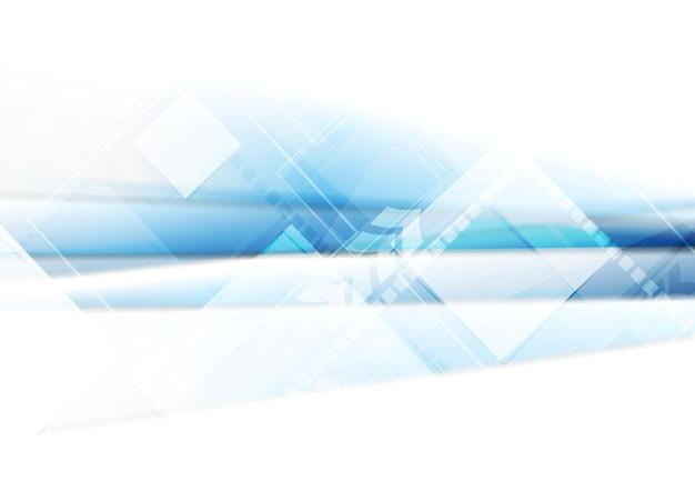 Jasnoniebieskie tło technologii z kwadratami. błyszczący projekt wektorowy