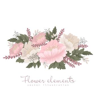 Jasnoróżowa karta kwiat clipart