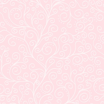 Jasnoróżowe tło wektor z białym wzorem liany