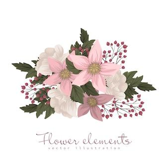 Jasnoróżowy kwiatowy t-shirt z nadrukiem clipart