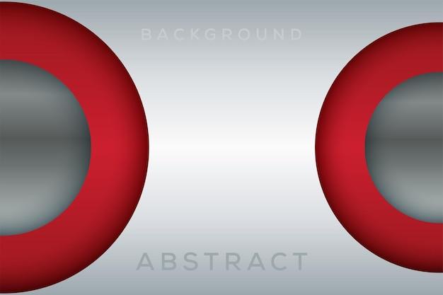 Jasnosrebrna okrągła ramka i czerwona błyszcząca linia do projektowania tapet