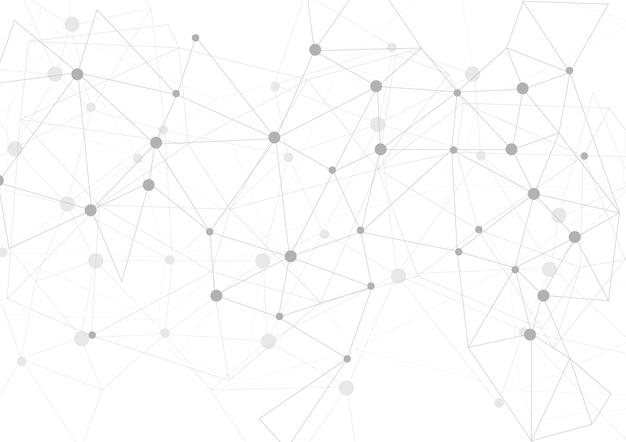 Jasnoszary wielokątne tło komunikacji. projekt wektorowy