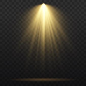 Jasnożółte oświetlenie z reflektorami