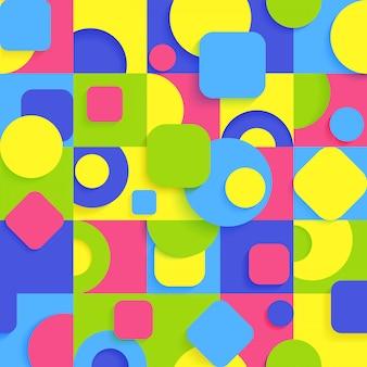 Jasny abstrakcyjny wzór geometryczny w bezszwowe tło z nowoczesnymi ozdobami postaci.
