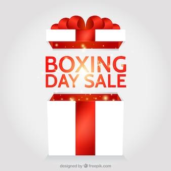 Jasny boxing day sprzedaż prezent
