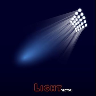 Jasny design świateł stadionowych.