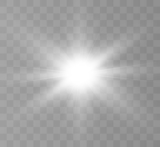 Jasny efekt świetlny ciepły blask do ilustracji wektorowych