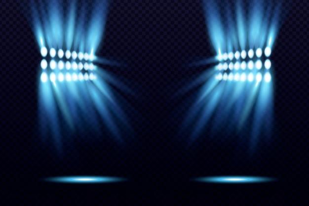 Jasny efekt świetlny stadionu