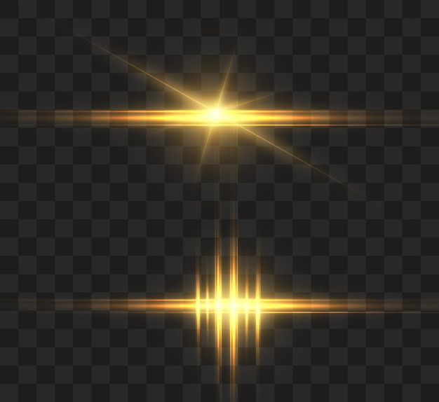 Jasny efekt świetlny z promieniami i podświetleniami do ilustracji wektorowych