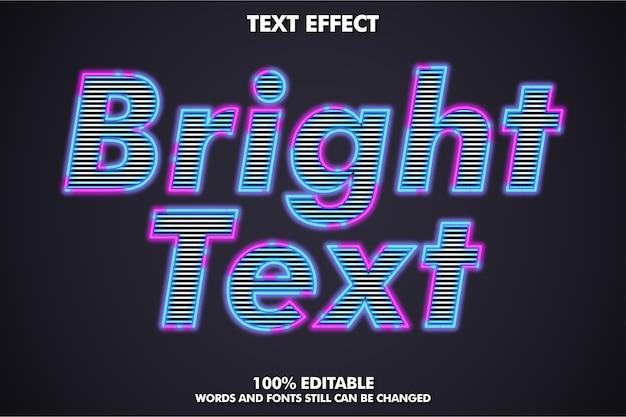 Jasny efekt tekstu konturu