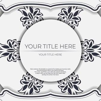 Jasny kolor pocztówka z abstrakcyjnymi wzorami. projekt wektor zaproszenia z ornamentem mandali.