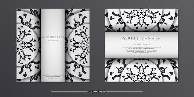 Jasny kolor pocztówki z abstrakcyjnymi wzorami. projekt karty zaproszenie z ornamentem mandali.