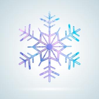 Jasny kolorowy płatek śniegu lodu