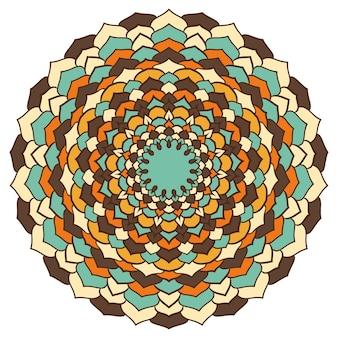 Jasny kolorowy rysunek odręczny ozdobnych abstrakcyjnych koronek okrągłych