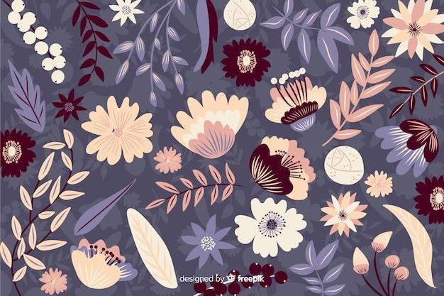 Jasny kolorowy wzór na tle kwiatów